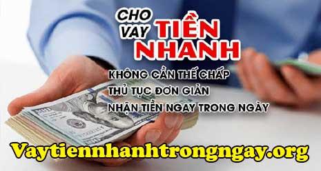 Vay tiền nhanh TPHCM chỉ cần CMND